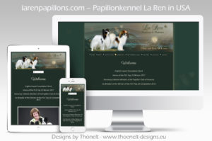 webseite LaRen Papillons 300x199 - Website-Layouts