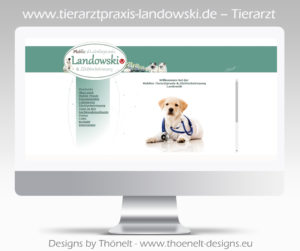 webseite html tierarzt 300x251 - Website-Layouts