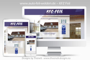 webseite kfz Feil 300x199 - Website-Layouts