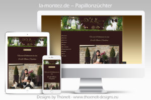 webseite lamontez papillons 300x199 - Website-Layouts