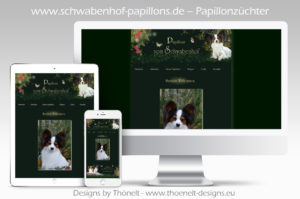 webseite papillons 300x199 - Website-Layouts