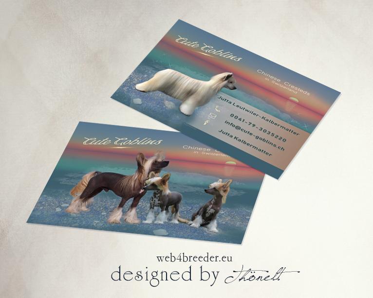 business cards breeder chines crested - Printgrafiken