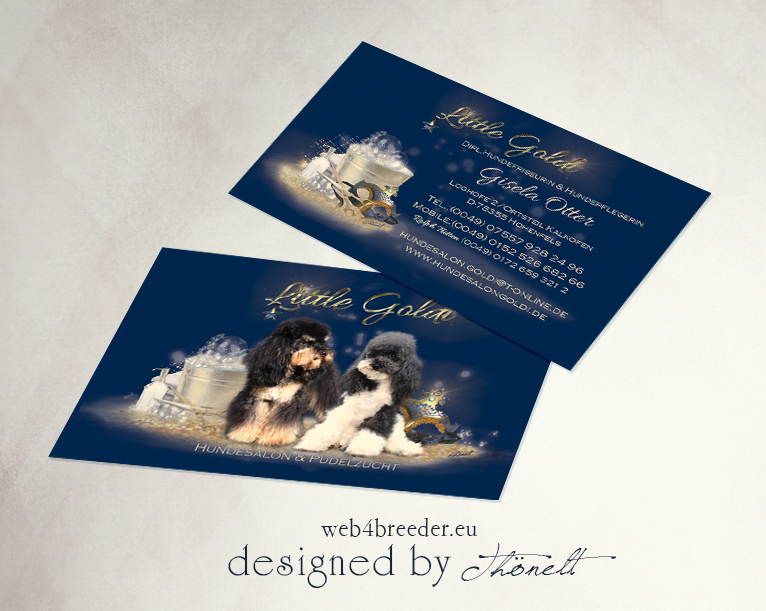 business cards hundesalon - Printgrafiken