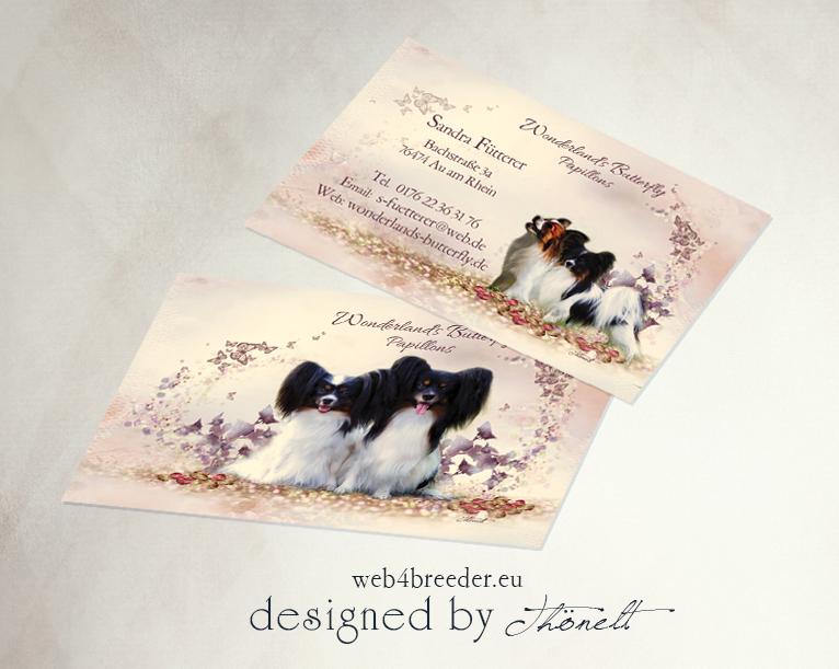 business cards papillons - Printgrafiken