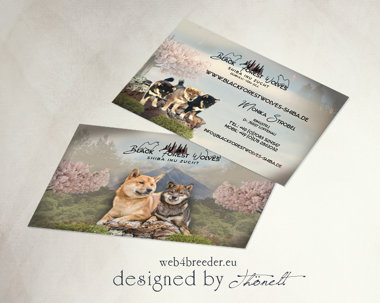 business cards shiba inu - Printgrafiken