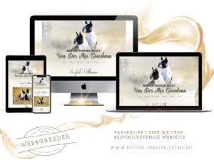 webseite boston terrier zucht 300x225 - Website-Layouts